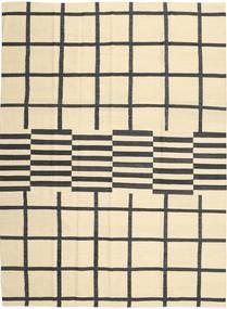 Kilim Modern Szőnyeg 210X285 Modern Kézi Szövésű Bézs/Fekete (Gyapjú, Afganisztán)
