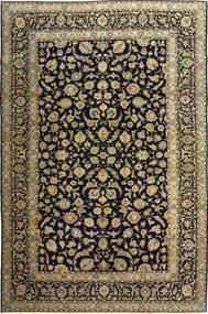 Kashan Patina Szőnyeg 255X385 Keleti Csomózású Fekete/Világosbarna Nagy (Gyapjú, Perzsia/Irán)