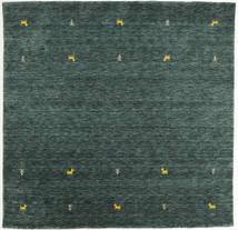 Gabbeh Loom Two Lines - Sötétszürke/Zöld Szőnyeg 200X200 Modern Szögletes Sötétzöld/Sötét Turquoise (Gyapjú, India)