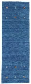 Gabbeh Loom Two Lines - Kék Szőnyeg 80X250 Modern Sötétkék/Kék (Gyapjú, India)