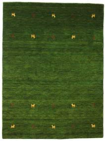 Gabbeh Loom Two Lines - Zöld Szőnyeg 140X200 Modern Sötétzöld (Gyapjú, India)