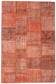 Patchwork Szőnyeg 197X300 Modern Csomózású Piros/Világos Rózsaszín (Gyapjú, Törökország)