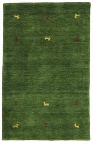 Gabbeh Loom Two Lines - Zöld Szőnyeg 100X160 Modern Sötétzöld (Gyapjú, India)
