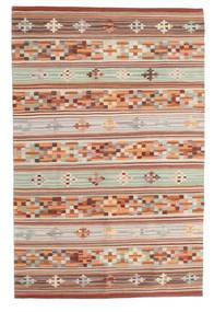 Kilim Anatolian Szőnyeg 100X160 Modern Kézi Szövésű Sötétpiros/Világosszürke (Gyapjú, India)