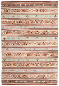 Kilim Anatolian Szőnyeg 190X290 Modern Kézi Szövésű Sötétpiros/Világosszürke (Gyapjú, India)