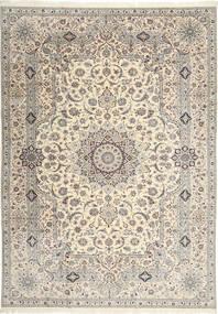 Nain 6La Habibian Szőnyeg 242X348 Keleti Csomózású Világosszürke/Bézs (Gyapjú/Selyem, Perzsia/Irán)