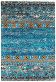 Quito - Turquoise Szőnyeg 160X230 Modern Csomózású Türkiz Kék/Sötétszürke (Selyem, India)