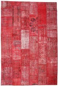 Patchwork Szőnyeg 201X296 Modern Csomózású Piros/Rozsdaszín (Gyapjú, Törökország)
