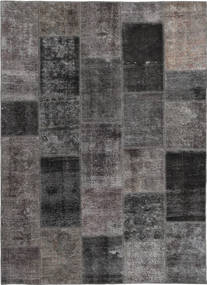Patchwork Szőnyeg 165X237 Modern Csomózású Sötétszürke/Barna (Gyapjú, Perzsia/Irán)
