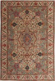Tabriz Patina Szőnyeg 217X323 Keleti Csomózású Sötétbarna/Világosbarna (Gyapjú, Perzsia/Irán)