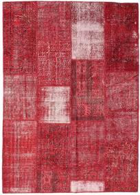 Patchwork Szőnyeg 160X226 Modern Csomózású Piros/Rozsdaszín (Gyapjú, Törökország)