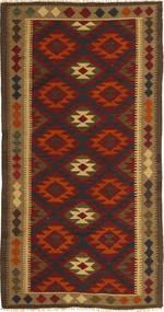 Kilim Maimane Szőnyeg 97X198 Keleti Kézi Szövésű Sötétbarna/Sötétpiros (Gyapjú, Afganisztán)