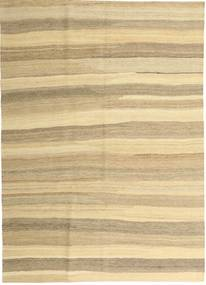Kilim Modern Szőnyeg 165X235 Modern Kézi Szövésű Bézs/Sötét Bézs (Gyapjú, Perzsia/Irán)