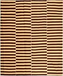 Kilim Modern Szőnyeg 222X265 Modern Kézi Szövésű Sötétbarna/Sötét Bézs (Pamut, Perzsia/Irán)
