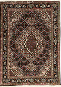 Tabriz 40 Raj Szőnyeg 107X149 Keleti Csomózású Sötétpiros/Sötétbarna (Gyapjú/Selyem, Perzsia/Irán)