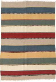 Kilim Szőnyeg 130X186 Keleti Kézi Szövésű Sötétszürke/Bézs (Gyapjú, Perzsia/Irán)
