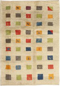 Gabbeh Perzsa Szőnyeg 125X184 Modern Csomózású Bézs/Sötét Bézs (Gyapjú, Perzsia/Irán)