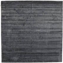 Bamboo Selyem Loom - Charcoal Szőnyeg 250X250 Modern Szögletes Bíbor/Sötétszürke/Fekete Nagy ( India)