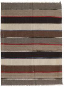 Kilim Szőnyeg 138X183 Keleti Kézi Szövésű Világosszürke/Sötétbarna/Világosbarna (Gyapjú, Perzsia/Irán)