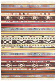 Kilim - Navaja - Navaja Szőnyeg 170X240 Modern Kézi Szövésű Bézs/Fekete ( India)