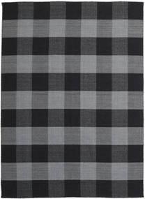 Check Kilim Szőnyeg 240X340 Modern Kézi Szövésű Sötétszürke/Fekete (Gyapjú, India)
