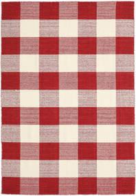 Check Kilim - Piros/White Szőnyeg 160X230 Modern Kézi Szövésű Piros/Bézs/Világos Rózsaszín (Gyapjú, India)