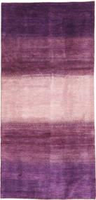 Gabbeh Perzsa Szőnyeg 128X280 Modern Csomózású Sötétlila/Világos Rózsaszín/Rózsaszín (Gyapjú, Perzsia/Irán)