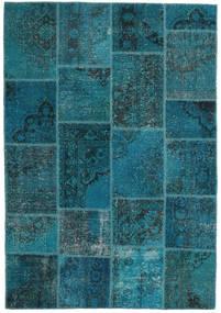 Patchwork Szőnyeg 159X230 Modern Csomózású Sötétkék/Sötét Turquoise (Gyapjú, Törökország)