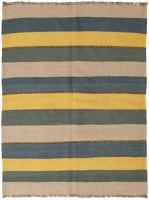 Kilim Szőnyeg 145X194 Keleti Kézi Szövésű Kék/Sárga (Gyapjú, Perzsia/Irán)