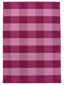 Check Kilim Szőnyeg 210X290 Modern Kézi Szövésű Rózsaszín/Világos Rózsaszín (Gyapjú, India)