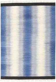 Ikat - Kék Szőnyeg 160X230 Modern Kézi Szövésű Kék/Bézs (Gyapjú, India)