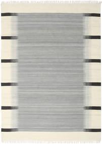 Ikat - Szürke Szőnyeg 210X290 Modern Kézi Szövésű Türkiz Kék/Bézs (Gyapjú, India)