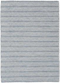 Kilim Long Stitch - Kék Szőnyeg 140X200 Modern Kézi Szövésű Világoskék/Bézs/Krém/Világosszürke (Gyapjú, India)