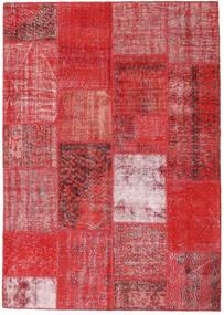 Patchwork Szőnyeg 162X230 Modern Csomózású Rozsdaszín/Sötétpiros/Piros (Gyapjú, Törökország)