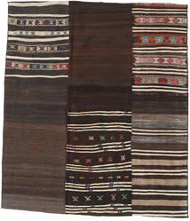 Kilim Patchwork Szőnyeg 179X207 Modern Kézi Szövésű Sötétbarna (Gyapjú, Törökország)