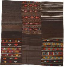 Kilim Patchwork Szőnyeg 208X212 Modern Kézi Szövésű Szögletes Sötétbarna (Gyapjú, Törökország)