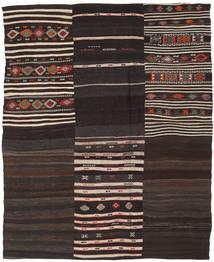 Kilim Patchwork Szőnyeg 193X238 Modern Kézi Szövésű Sötétbarna/Világosszürke (Gyapjú, Törökország)