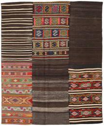 Kilim Patchwork Szőnyeg 194X234 Modern Kézi Szövésű Sötétbarna/Sötétpiros (Gyapjú, Törökország)