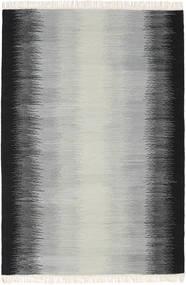 Ikat - Fekete/Szürke Szőnyeg 140X200 Modern Kézi Szövésű Világosszürke/Fekete (Gyapjú, India)