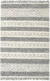 Kilim Berber Ibiza - Fekete És Fehér Szőnyeg 200X300 Modern Kézi Szövésű Világosszürke/Sötétszürke/Sötét Bézs (Gyapjú, India)