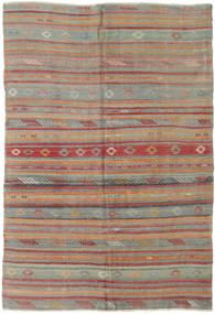 Kilim Törökország Szőnyeg 160X233 Keleti Kézi Szövésű Sötétszürke/Sötétpiros (Gyapjú, Törökország)