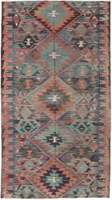 Kilim Törökország Szőnyeg 163X292 Keleti Kézi Szövésű Sötétszürke/Világosbarna (Gyapjú, Törökország)
