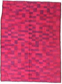 Colored Vintage Szőnyeg 144X195 Modern Csomózású Rózsaszín/Piros (Gyapjú, Törökország)