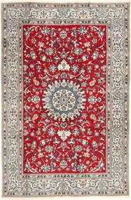 Nain Szőnyeg 196X297 Keleti Csomózású Világosszürke/Barna (Gyapjú, Perzsia/Irán)