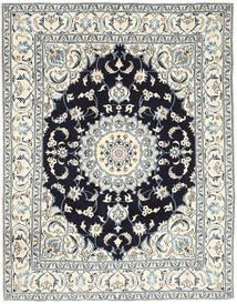 Nain Szőnyeg 193X250 Keleti Csomózású Világosszürke/Bézs (Gyapjú, Perzsia/Irán)