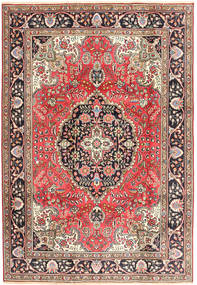 Tabriz Szőnyeg 200X287 Keleti Csomózású Sötétpiros/Barna (Gyapjú, Perzsia/Irán)
