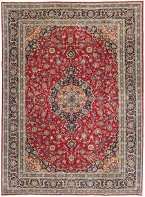 Kashan Patina Szőnyeg 247X337 Keleti Csomózású Sötétpiros/Piros (Gyapjú, Perzsia/Irán)