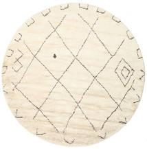 Almaaz - White Szőnyeg Ø 250 Modern Csomózású Kerek Bézs/Bézs/Krém Nagy (Gyapjú, India)