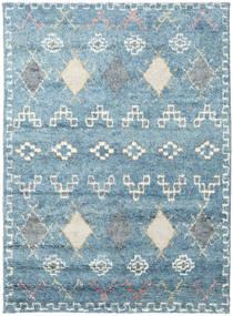 Zaurac - Kék Szürke Szőnyeg 170X240 Modern Csomózású Világoskék/Bézs (Gyapjú, India)