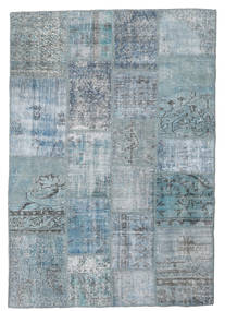 Patchwork Szőnyeg 139X201 Modern Csomózású Világoskék/Világosszürke/Kék (Gyapjú, Törökország)